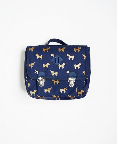 Nachtblauwe boekentas